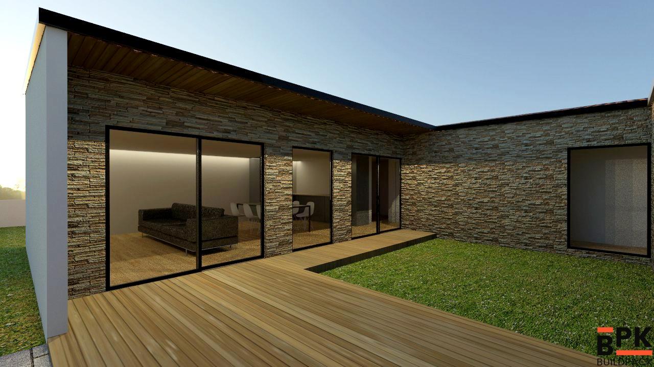 T3 deluxe 149m2 12m2 deck casas modulares e madeira - Paredes modulares ...